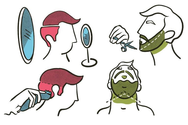 Barba, cabelo e bigode: faça em casa e fique bem na videoconferência