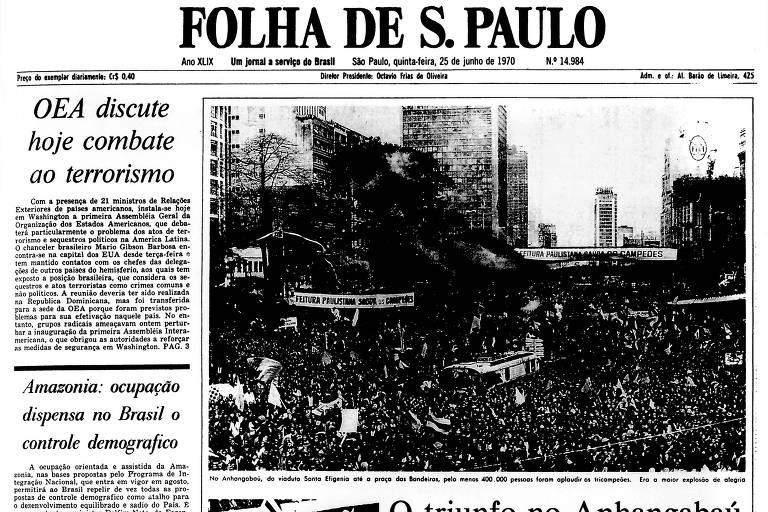 1970: Sem a taça Jules Rimet, 8 atletas da seleção chegam a São Paulo