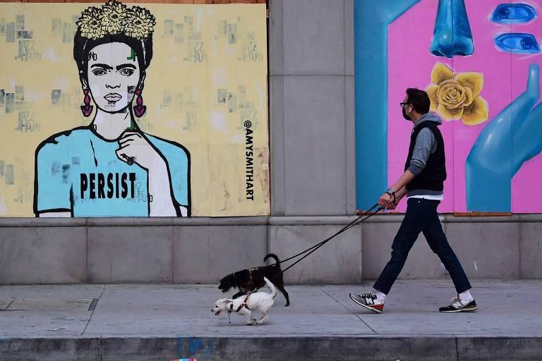 Califórnia fecha ruas para carros e abre espaço para pedestres em meio à pandemia