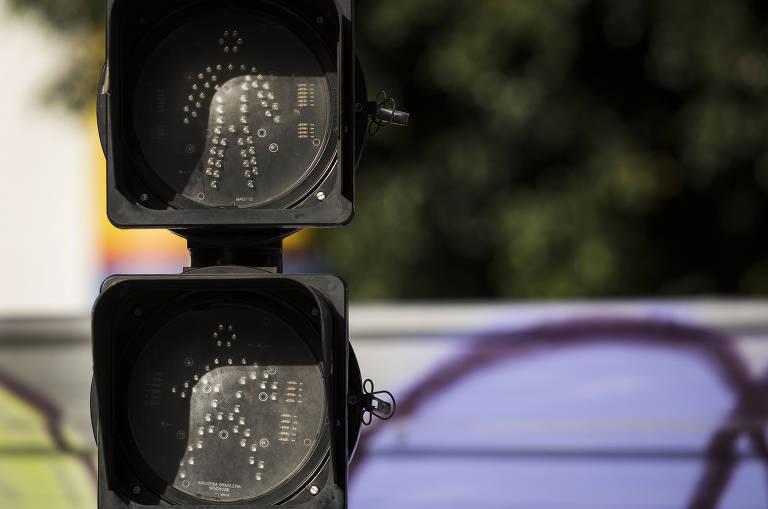 Apagão de semáforos no centro de SP