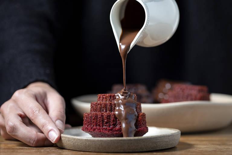 O mini red velvet da Marie Marie Bakery pode ser adicionado na cesta de Dia das Mães