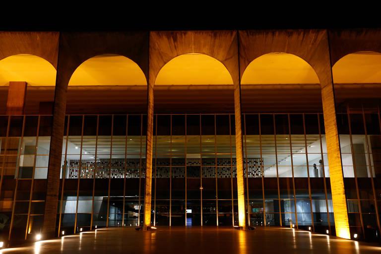 Fachada do palácio do Itamaraty, sede do Ministério das Relações Exteriores, em Brasília