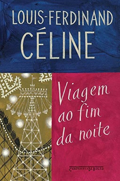 Capa do livro 'Viagem ao Fim da Noite', de Louis-Ferdinand Céline
