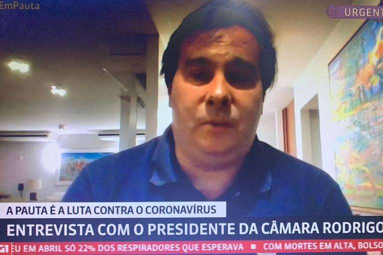 Presidente da Câmara dos Deputados, Rodrigo Maia (DEM-RJ), participa do Em Pauta (GloboNews)