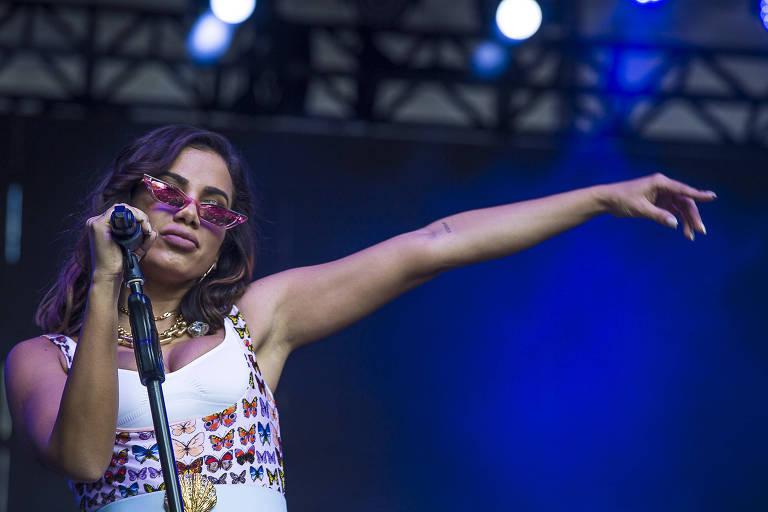 Show da cantora Anitta no Vale do Anhangabaú durante a Virada Cultural de 2019