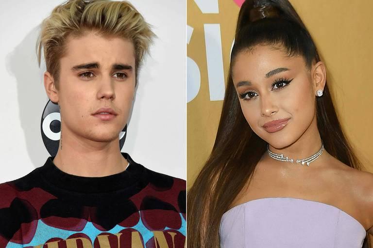 Ariana Grande dança com novo namorado em clipe de música lançada com Justin Bieber