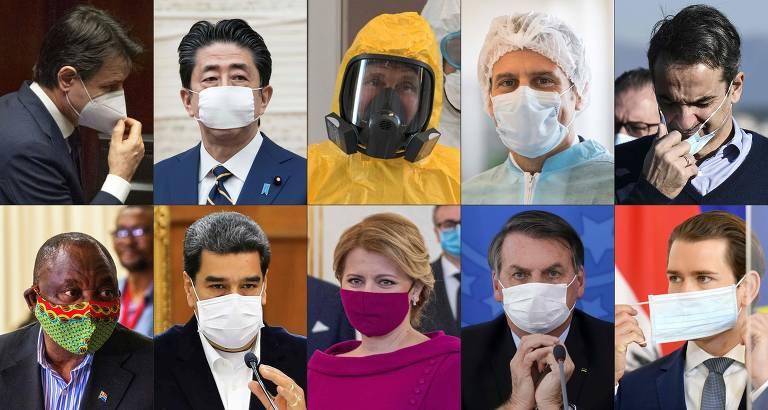 Líderes mundiais usam máscara durante a pandemia; veja fotos de hoje