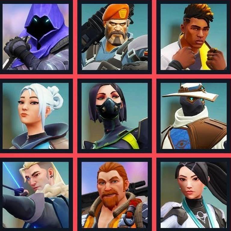 Agentes/Personagens de Valorant, da Riot