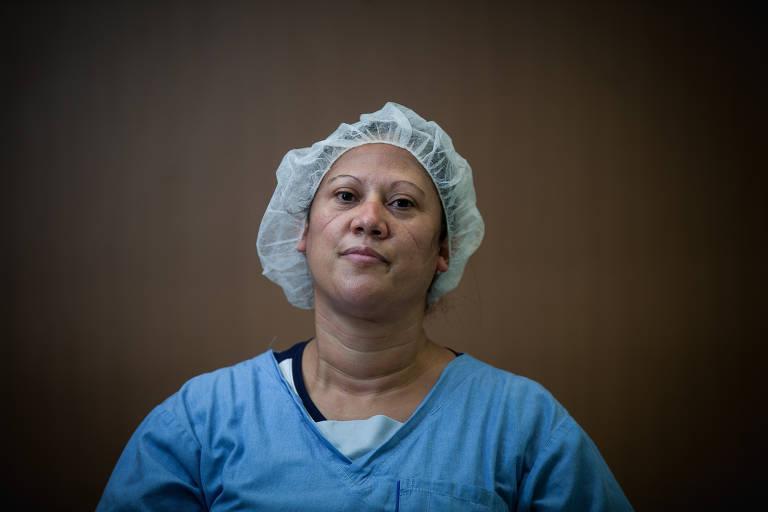 A técnica de enfermagem Silvânia Venâncio da Silva, 40