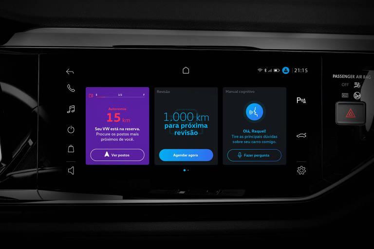 Sistema multimídia Volks Play, que emite alertas para o motorista