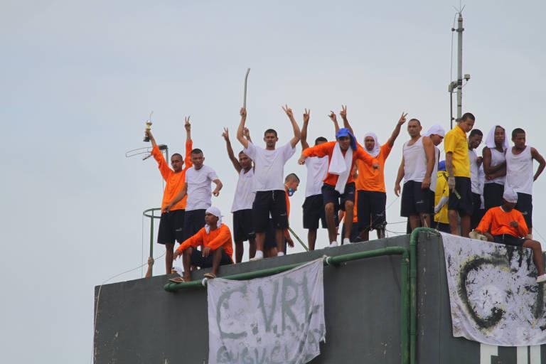 Motim na Unidade Prisional Puraquequara, em Manaus (AM)