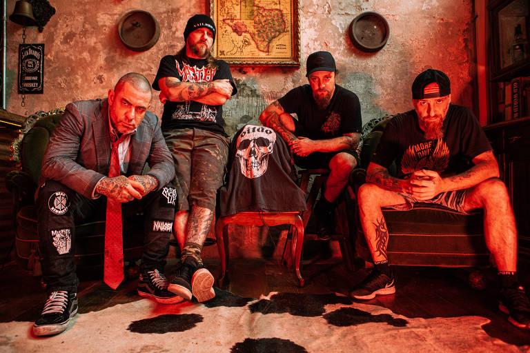A banda de punk Oitão
