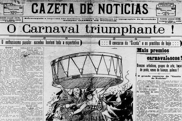 Gazeta de Notícias, de 2 de março de 1919, noticia o Carnaval