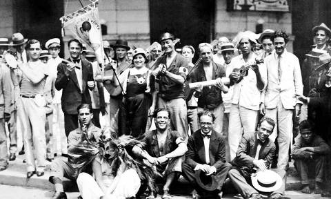 Carnaval 1919 Foliões do bloco Bola Preta .Foto Acervo Cordão da Bola Preta