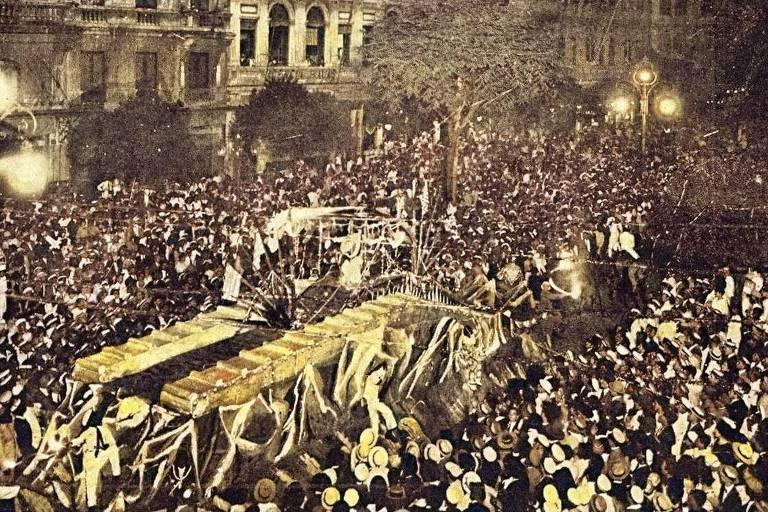 Desfile dos Democráticos no Carnaval de 1919