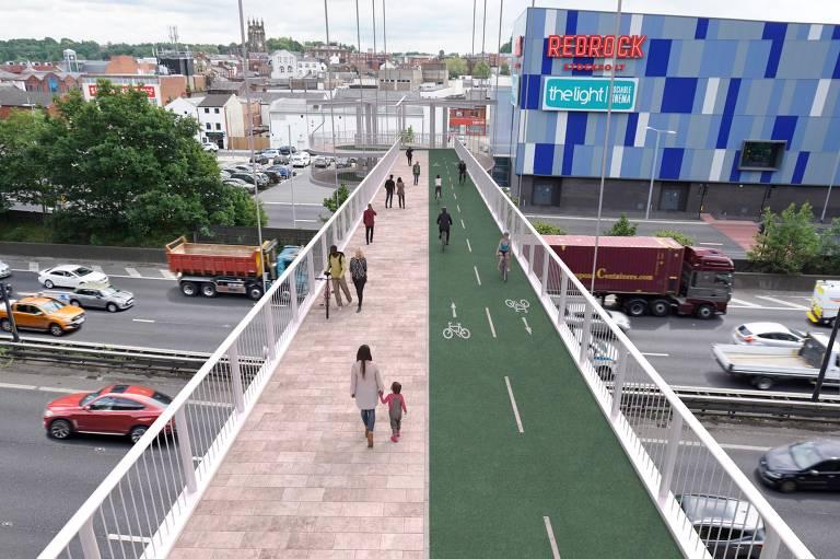 Grande Manchester quer aproveitar efeito da quarentena para incentivar bicicletas e pedestres