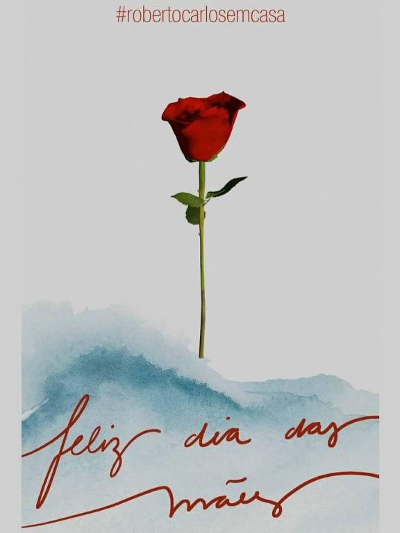 Rosa virtual da live de Roberto Carlos