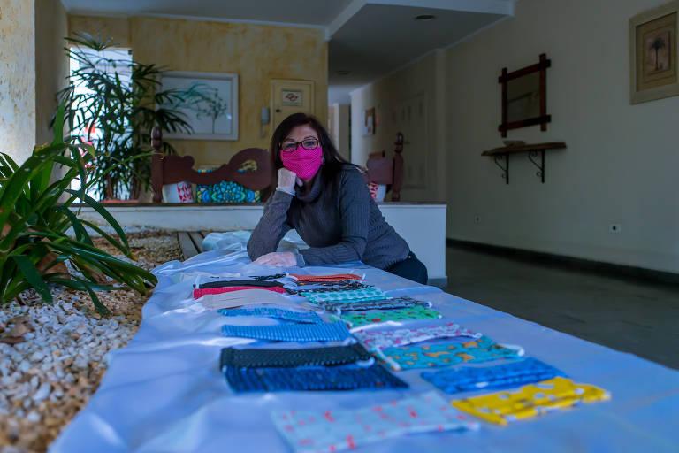 Máscaras criativas incentivam o uso e ajudam a aliviar o medo