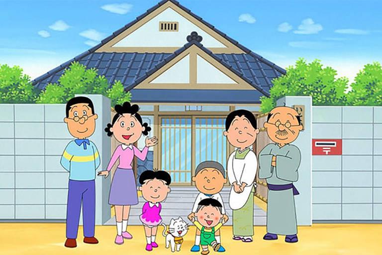 Desenho 'Sazae-san' exibido no Japão