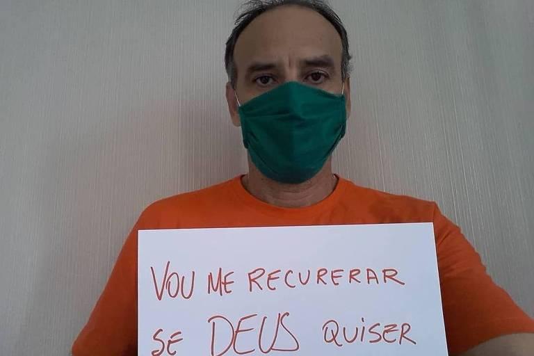 Antes da internação, ex-jogador de vôlei de praia Márcio Araújo divulgou em suas redes sociais que havia sido infectado