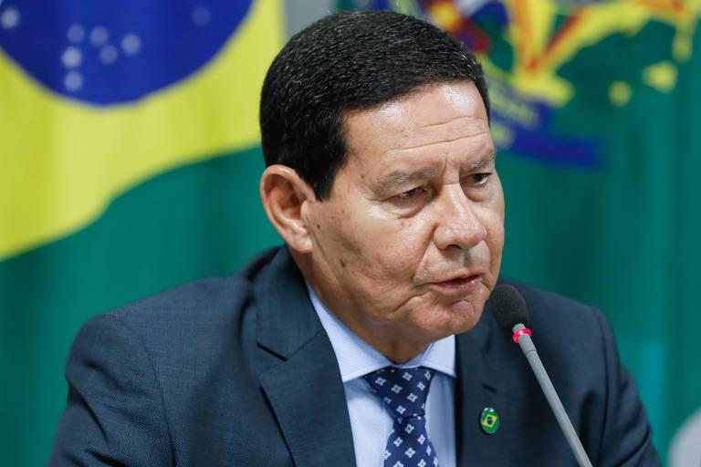 O vice-presidente Hamilton Mourão em reunião do Conselho do Governo
