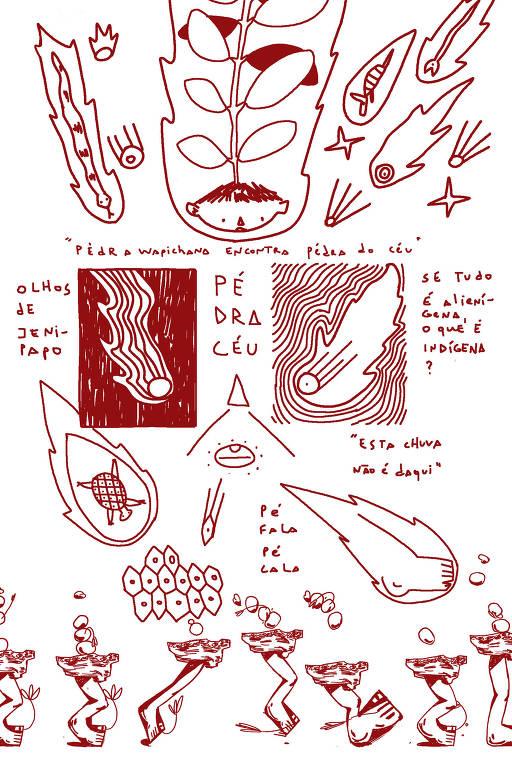 desenhos em vermelho