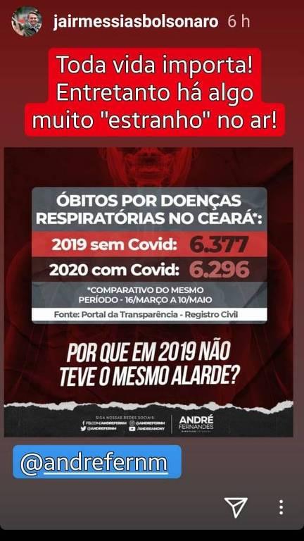 publicação mostra números errados de mortes no Ceará