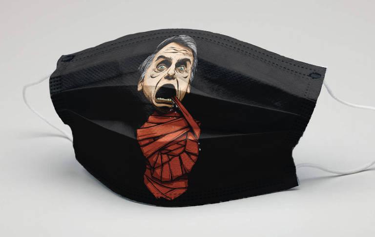 Sergio Moro e Jair Bolsonaro inspiram criação de máscaras
