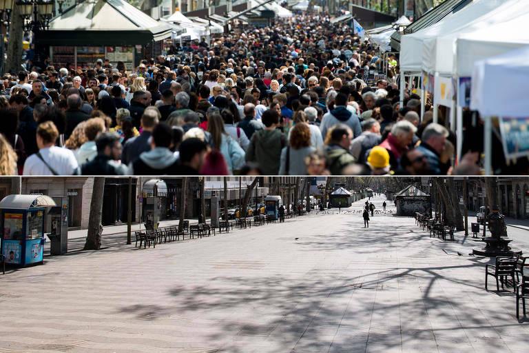 Antes e depois; veja como a pandemia esvaziou atrações turísticas na Europa