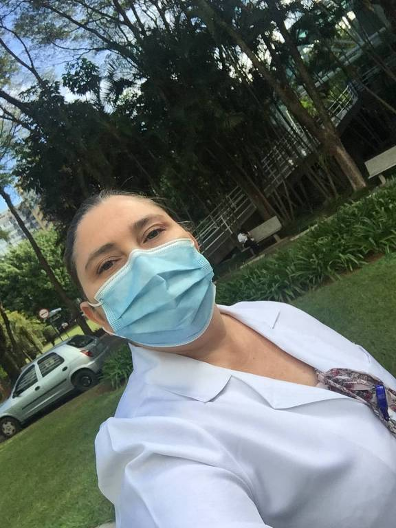A enfermeira Katia Simone Cruz Azevedo