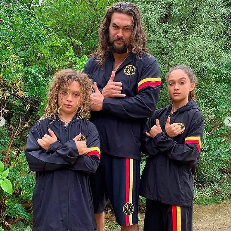 Jason Momoa e os filhos