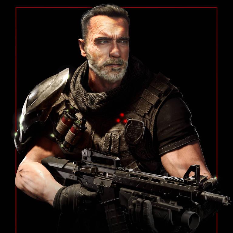 Arnold Schwarzenegger como player de Predator