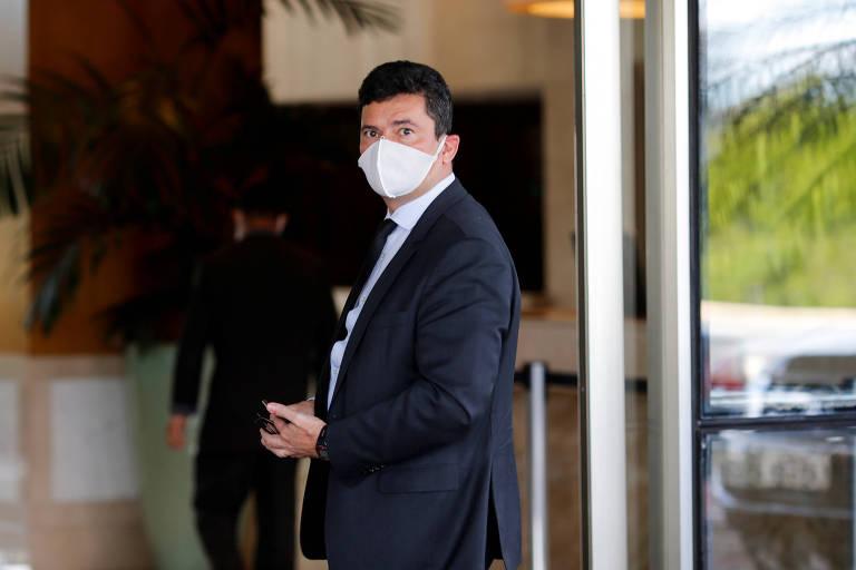 O ex-ministro da Justiça Sergio Moro, que hoje é alvo de ofensiva de advogados por causa de seu papel na Lava Jato
