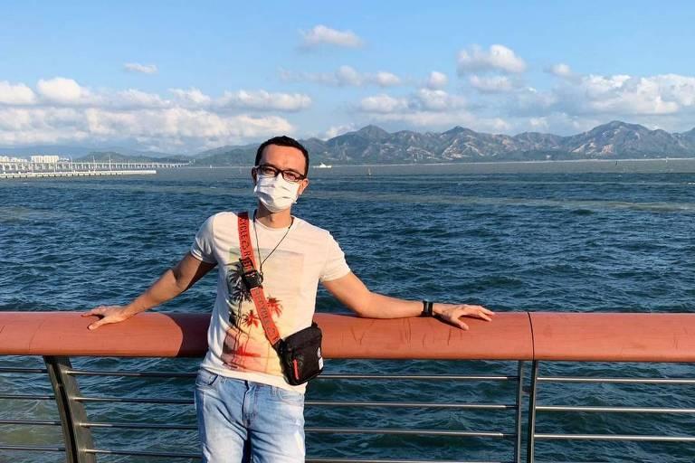 O brasileiro Ivory Júnior, que mora em Shenzhen, na China
