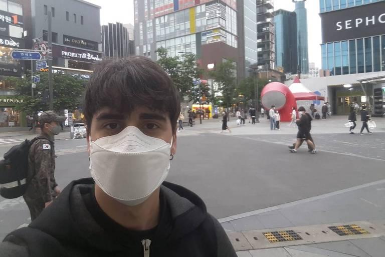 O brasileiro Kevin Bustamante, que vive em Seul, na Coreia do Sul