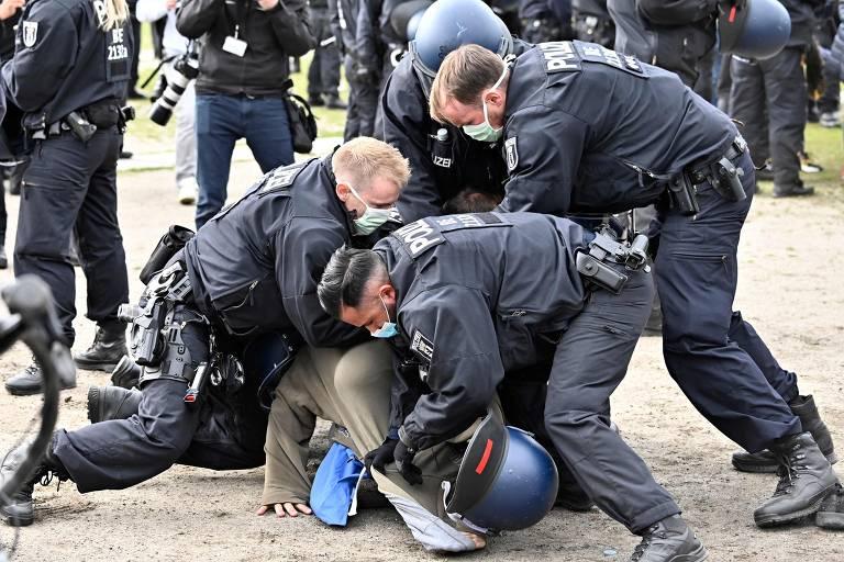 Protestos contra a quarentena na Alemanha