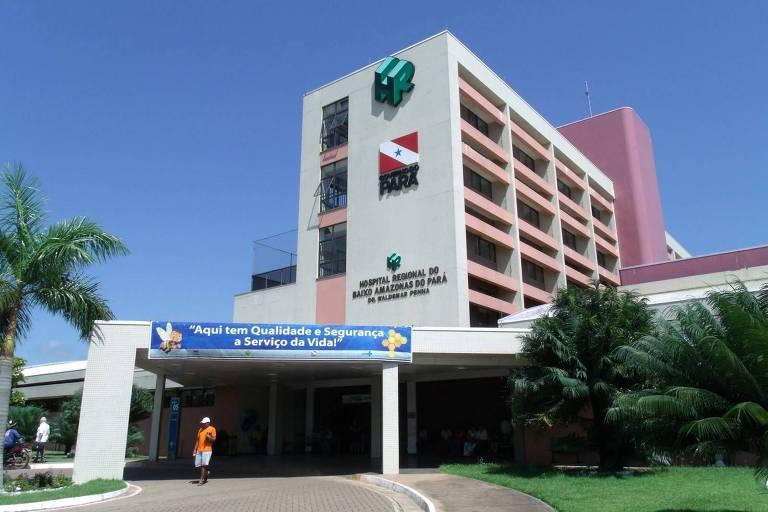 O Hospital Regional do Baixo Amazonas, em Santarém (PA)