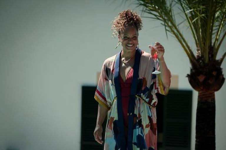 Angela Griffin em cena da série 'White Lies'