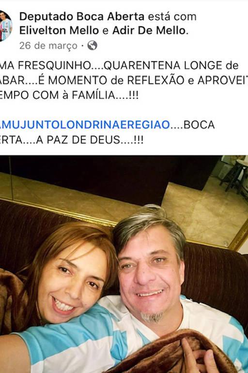 O deputado Boca Aberta gastou quase R$ 20 mil de cota parlamentar para impulsionar posts no Facebook