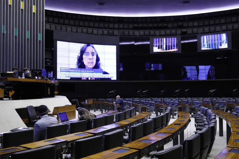 Câmara dos Deputados tem sessão com participação remota dos parlamentares