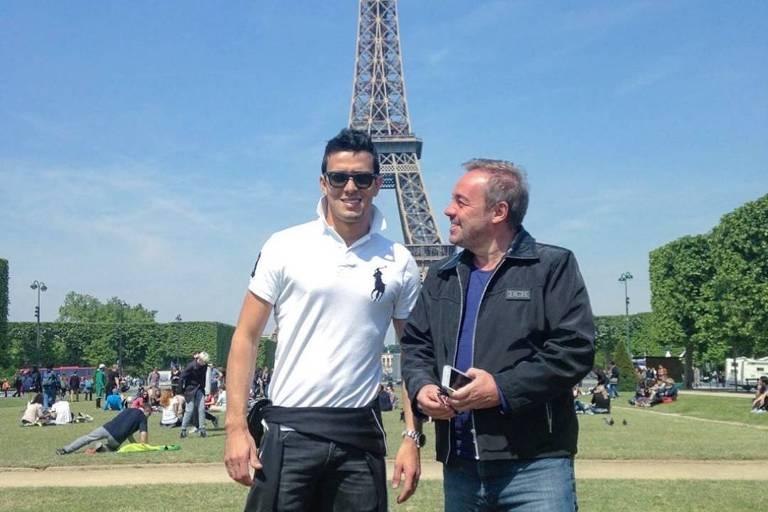 Gugu e Thiago Salvático em Paris