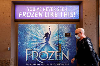Disney's Broadway production of Frozen the Musical closed due to the coronavirus disease (COVID-19) outbreak in Manhattan, New York City