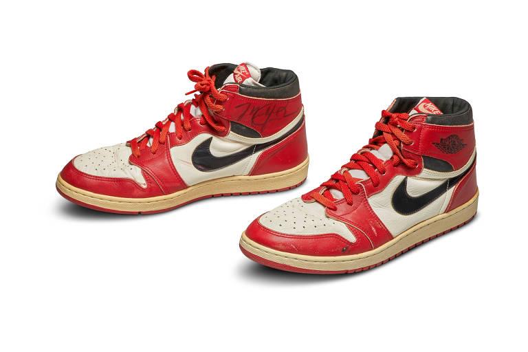 Air Jordan usado por Michael em sua primeira temporada na NBA