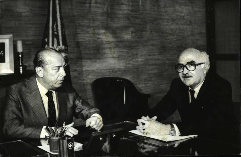 Wilson Leite Braga, governador da Paraíba ao lado do então presidente João Baptista de Oliveira Figueiredo