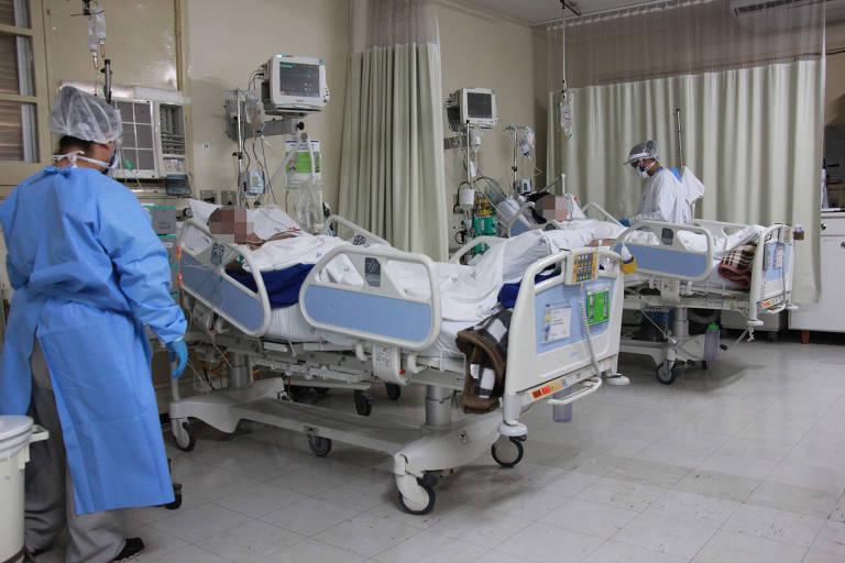 Pacientes com Covid-19 internados no HC de Ribeirão Preto