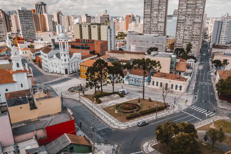 Curitiba vazia durante a quarentena