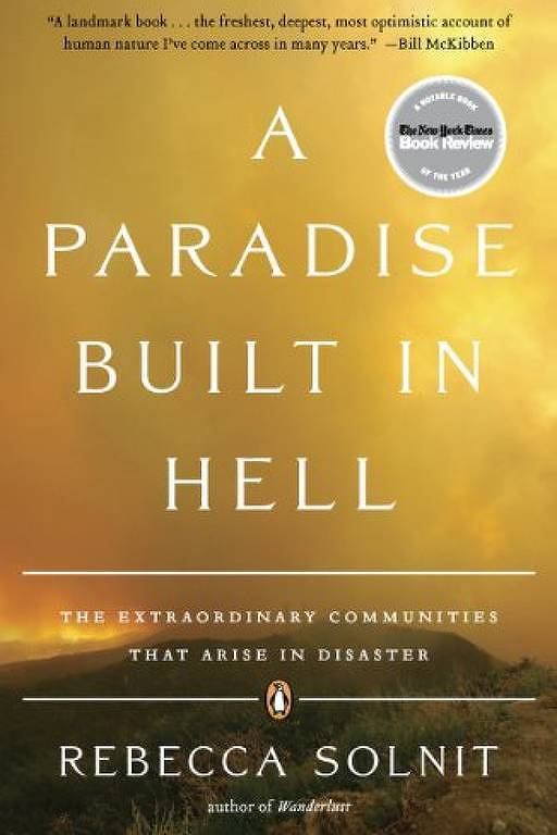 Capa do livro 'A Paradise Built in Hell', de Rebecca Solnit