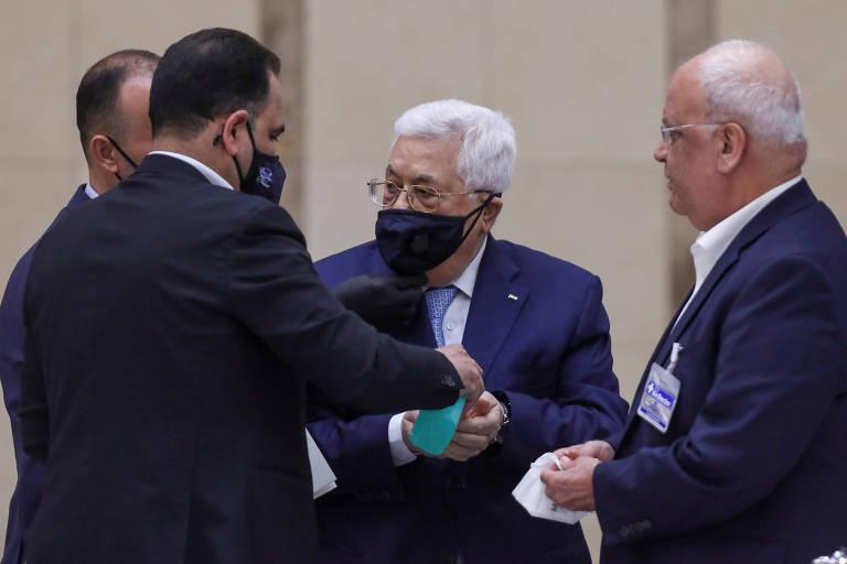 Presidente palestino anuncia fim de acordos com Israel e EUA