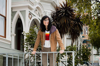 Director Alice Wu in San Francisco, April 18, 2020. (Damien Maloney/The New York Times)