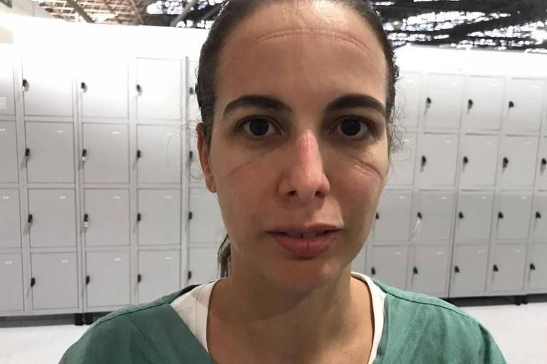 A enfermeira intensivista Renata Pietro, 44, presidente do departamento de enfermagem da Amib (Associação de Medicina Intensiva Brasileira)